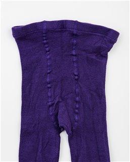 Detské hladké s elastanom fialové