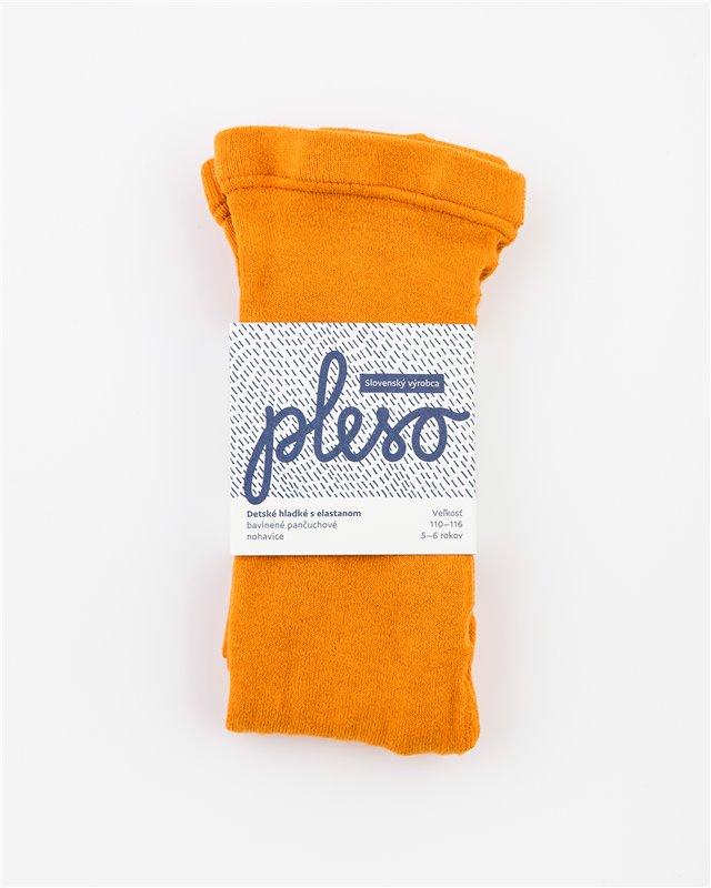 Detské hladké s elastanom oranžové
