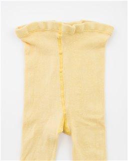 Detské hladké s elastanom žlté