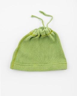 Detská čiapka bledozelená – dievča