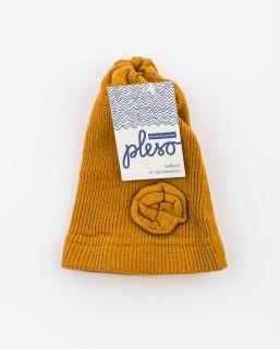 Detská čiapka okrová – dievča