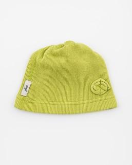 Detská čiapka žltozelená – dievča