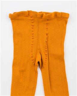 Dámske hladké s elastanom oranžové